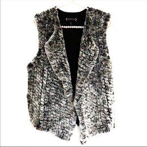 {NANETTE LEPORE} Faux Fur Sweater Vest